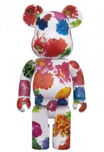Bearbrick Art Toy Diseño Pattern de Flores