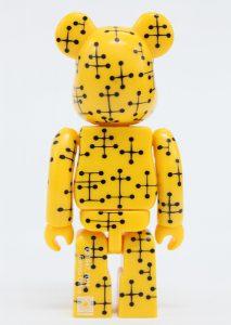 Bearbrick Art Toy Diseño Pattern Amarillo
