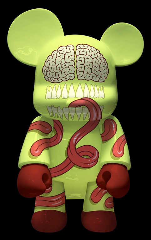 Tongue Tied Bear Qee de Jason Freeny