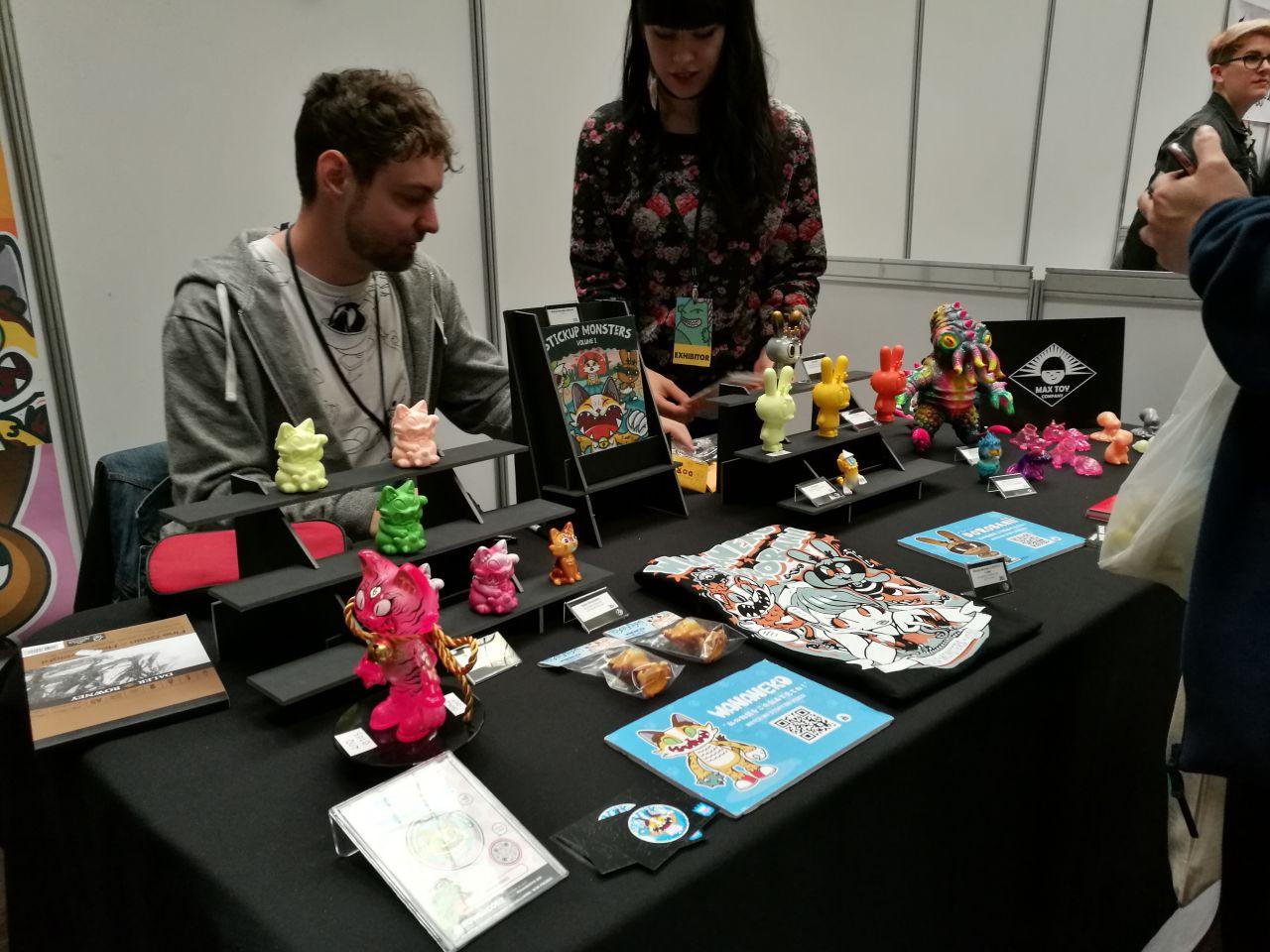 Stand de Javier Jiménez en la ToyCon UK 2017