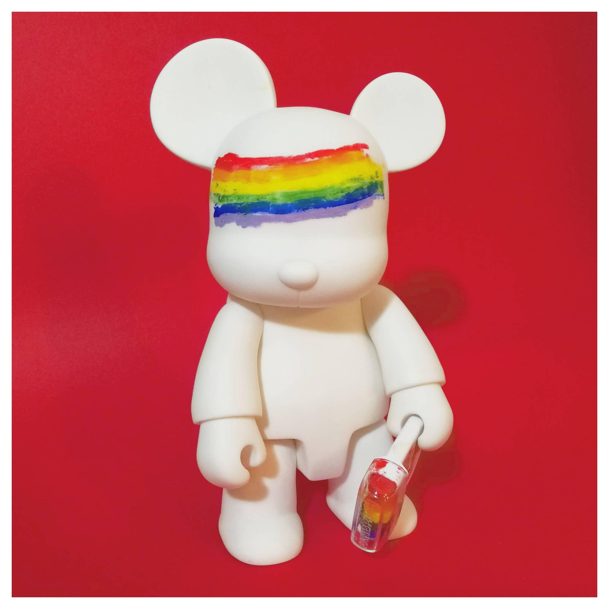 DIY Qee (Gay Pride Custom)