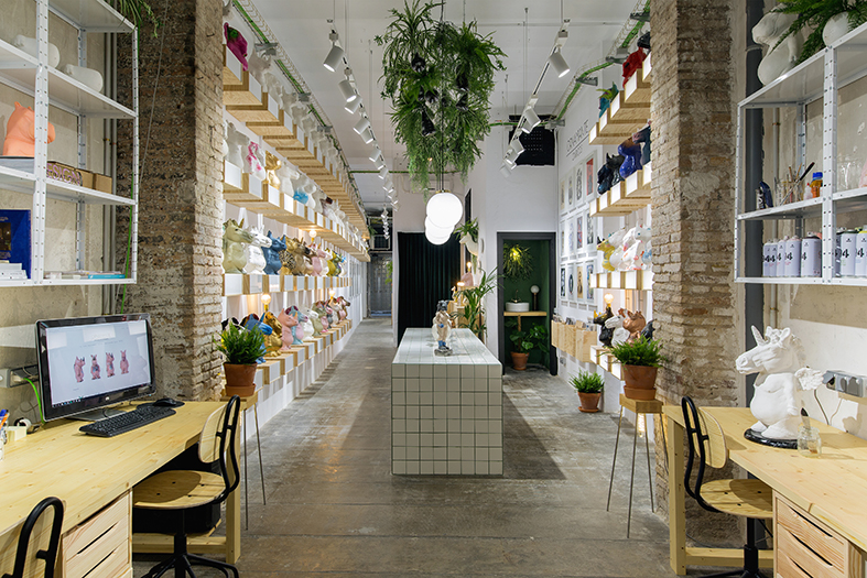 Ornamante Lab Shop, estudio en el centro de Barcelona
