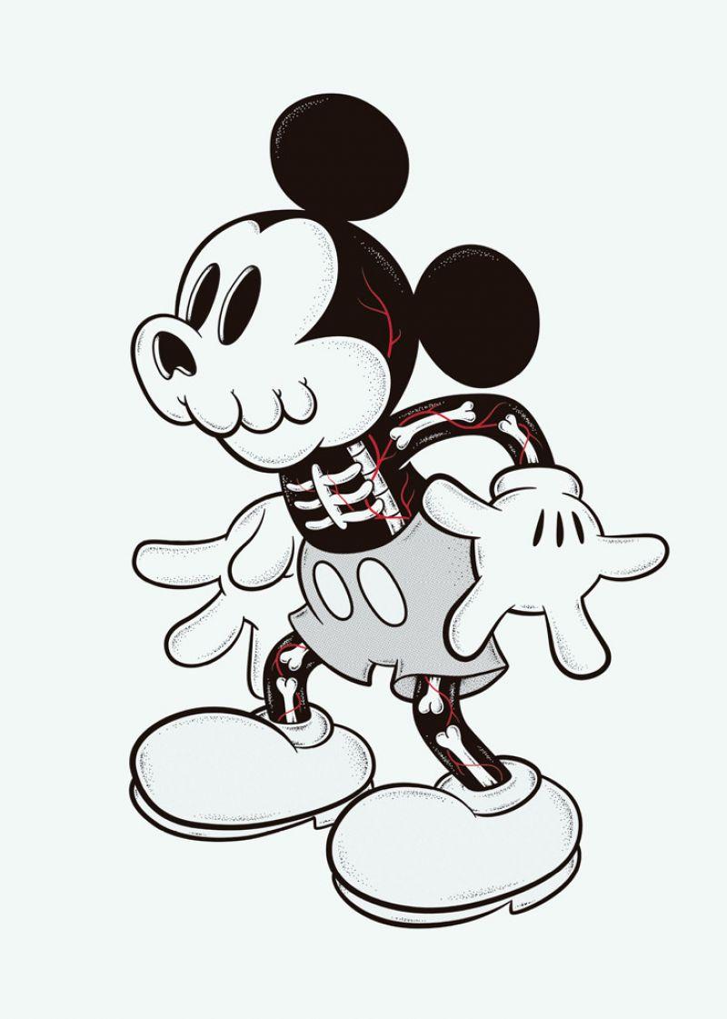 Dead Mickey Cote Escriva Ilustracion