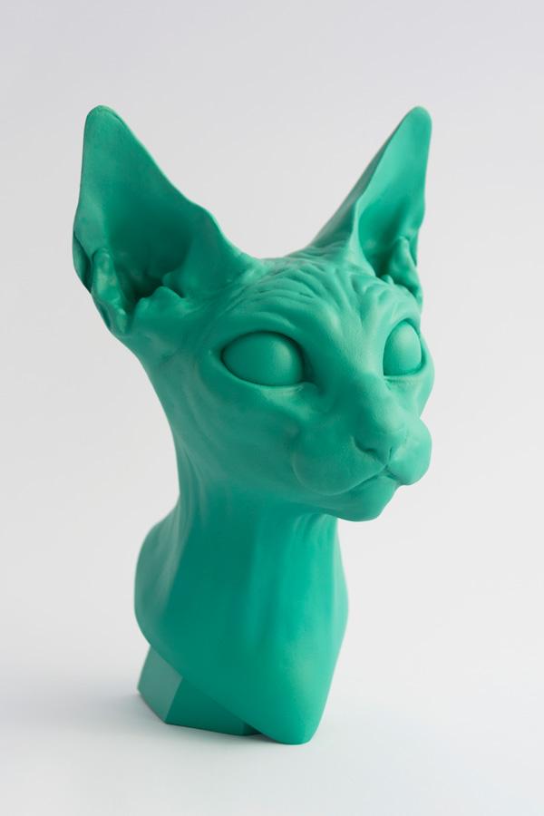 Art Toy Cathead Juan Blu busto