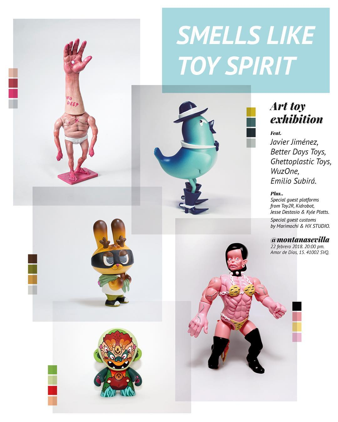 Art Toys Smells like Toy Spirit Exposición Montana Shop Sevilla