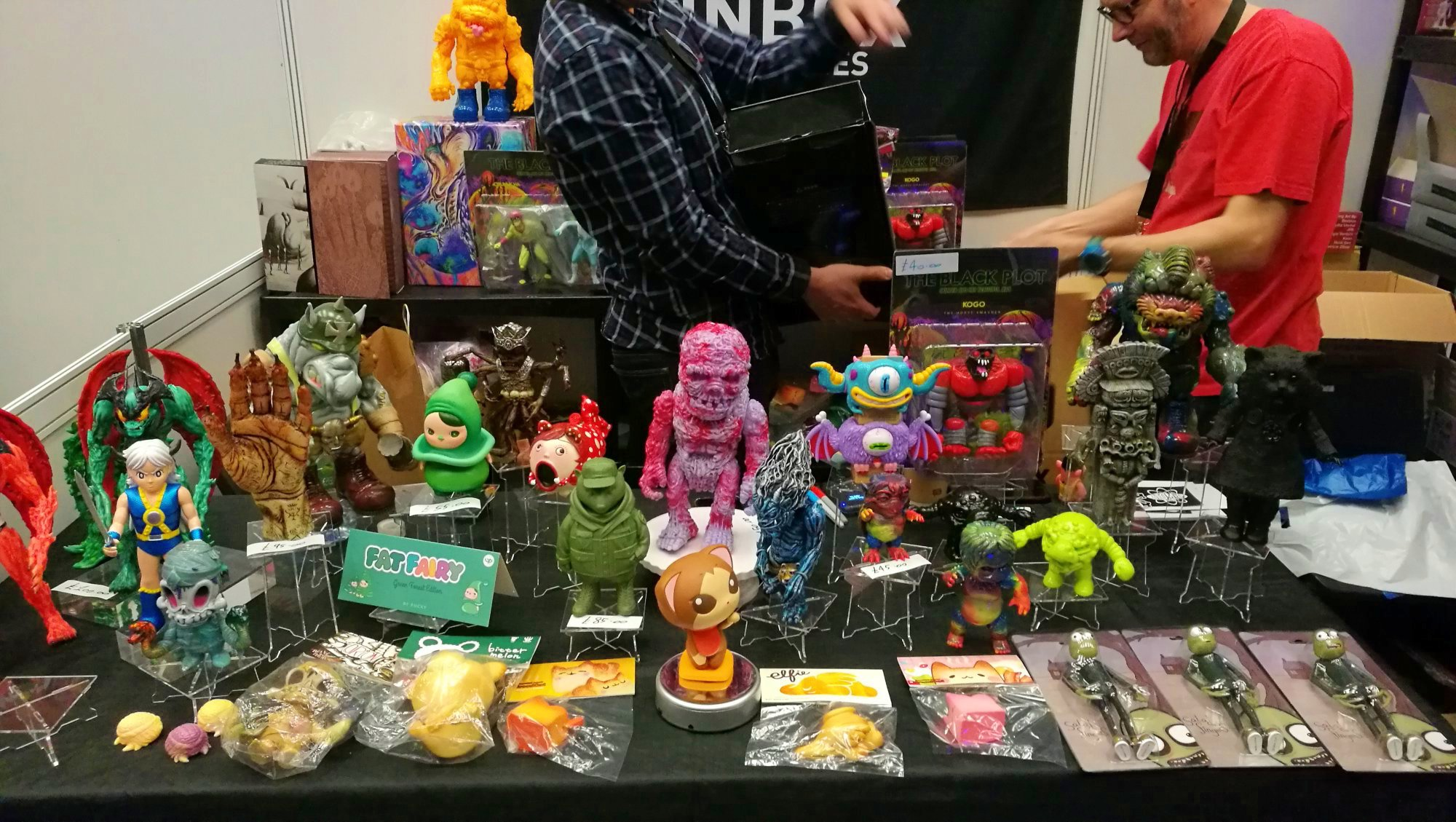 Stand de Unbox industries Toy Con UK 2018