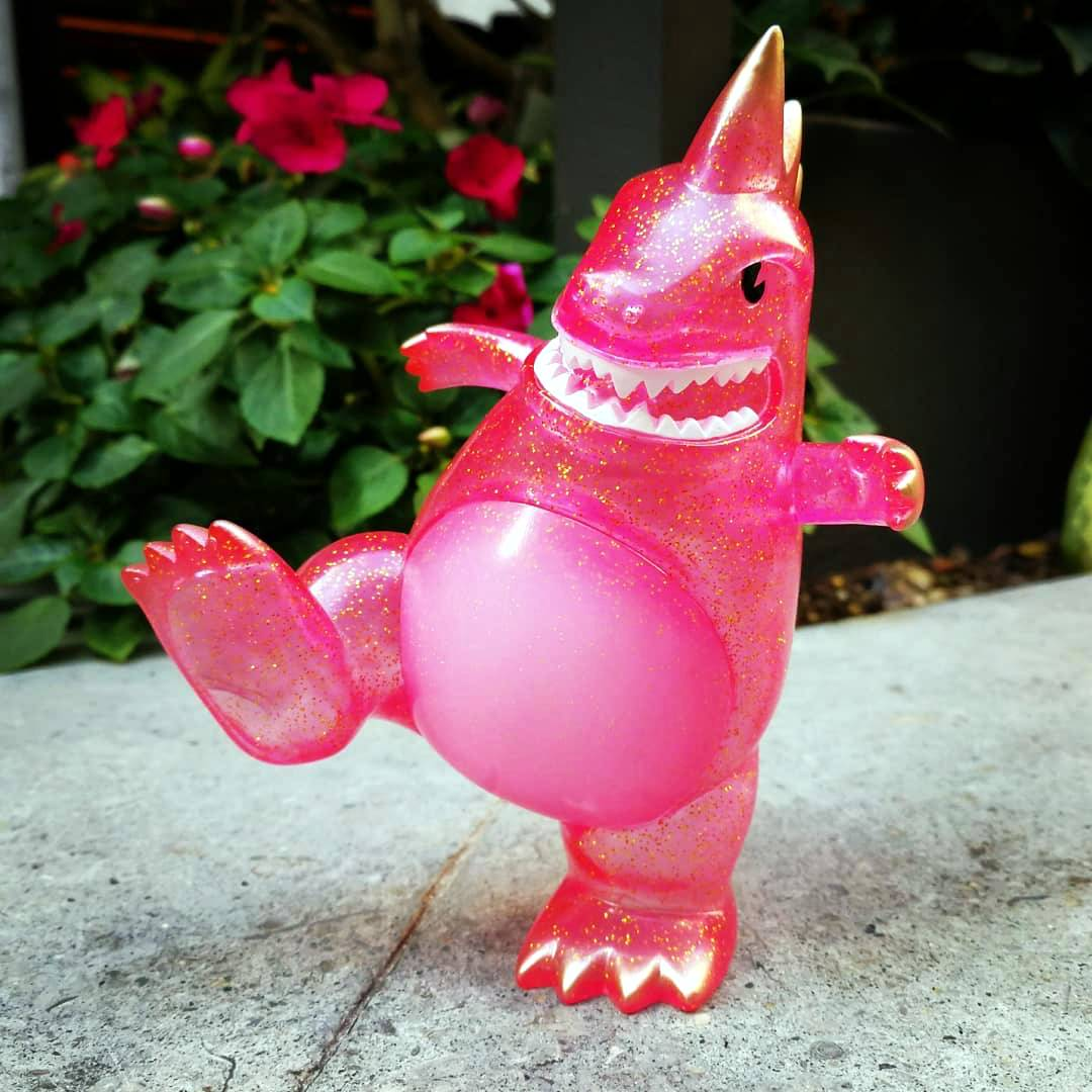 Toyconosaurus 2018 Pink Glitter Clear Mascot