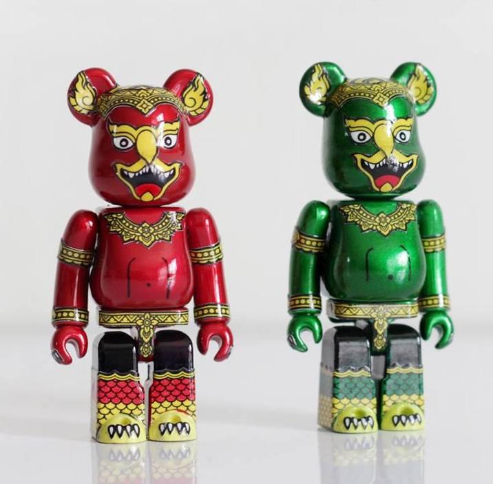 Khram Red and Green Garuda Custom Bearbrick