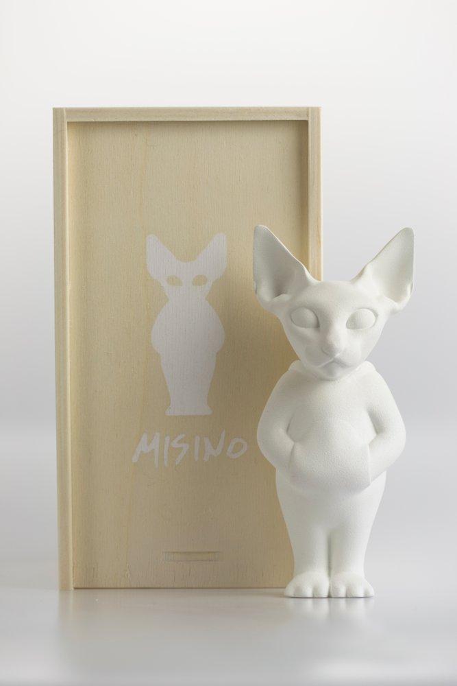 Misino Juan Blu Art Toy Resin Cat