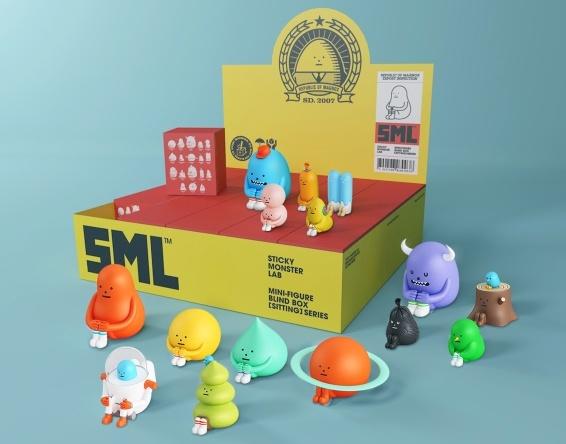 Sticky Monster Lab Mini Figure Blind Box Sitting Series Display