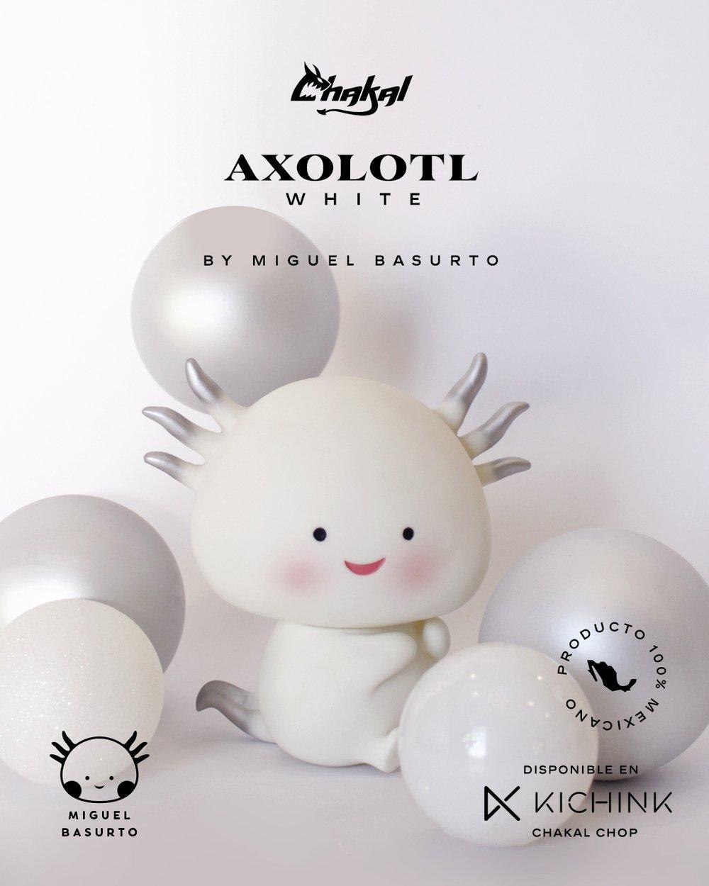 Axolotl Blanco y Negro Chakaltoys Miguel Basurto