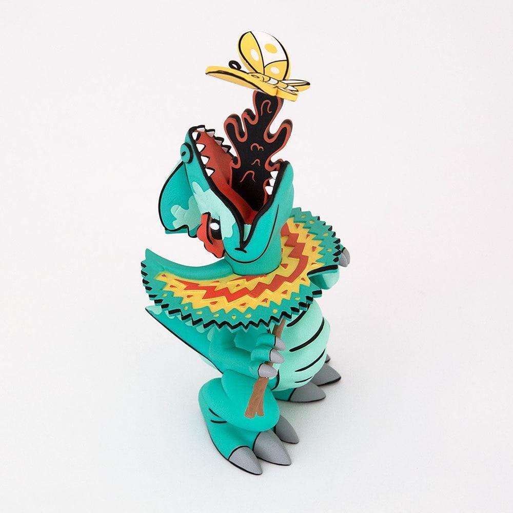 SPITTER Joe Ledbetter Art Toy Dilophosaurus 3D Retro