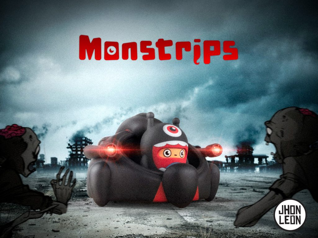 Monstrips LEO Art Toy Jhon León