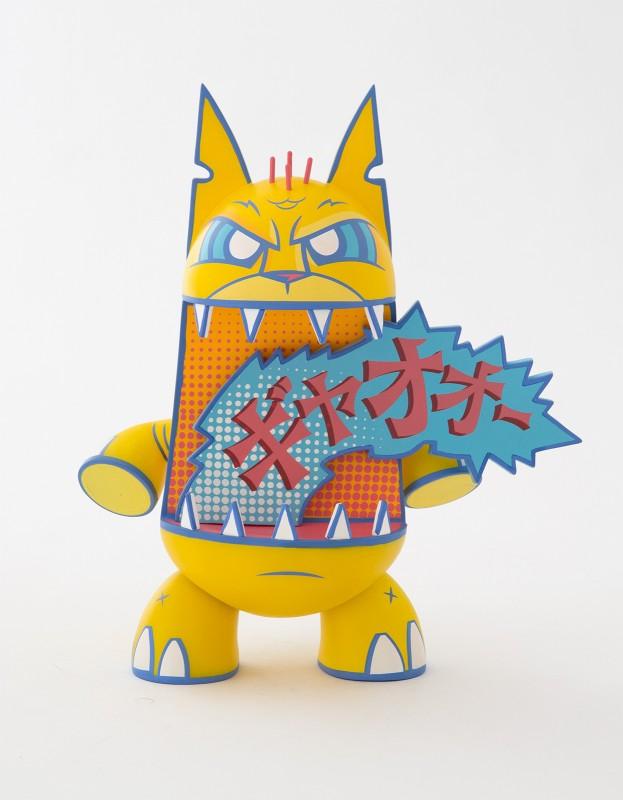 Crazy Catzilla Art Toy de Joe Ledbetter Amarillo