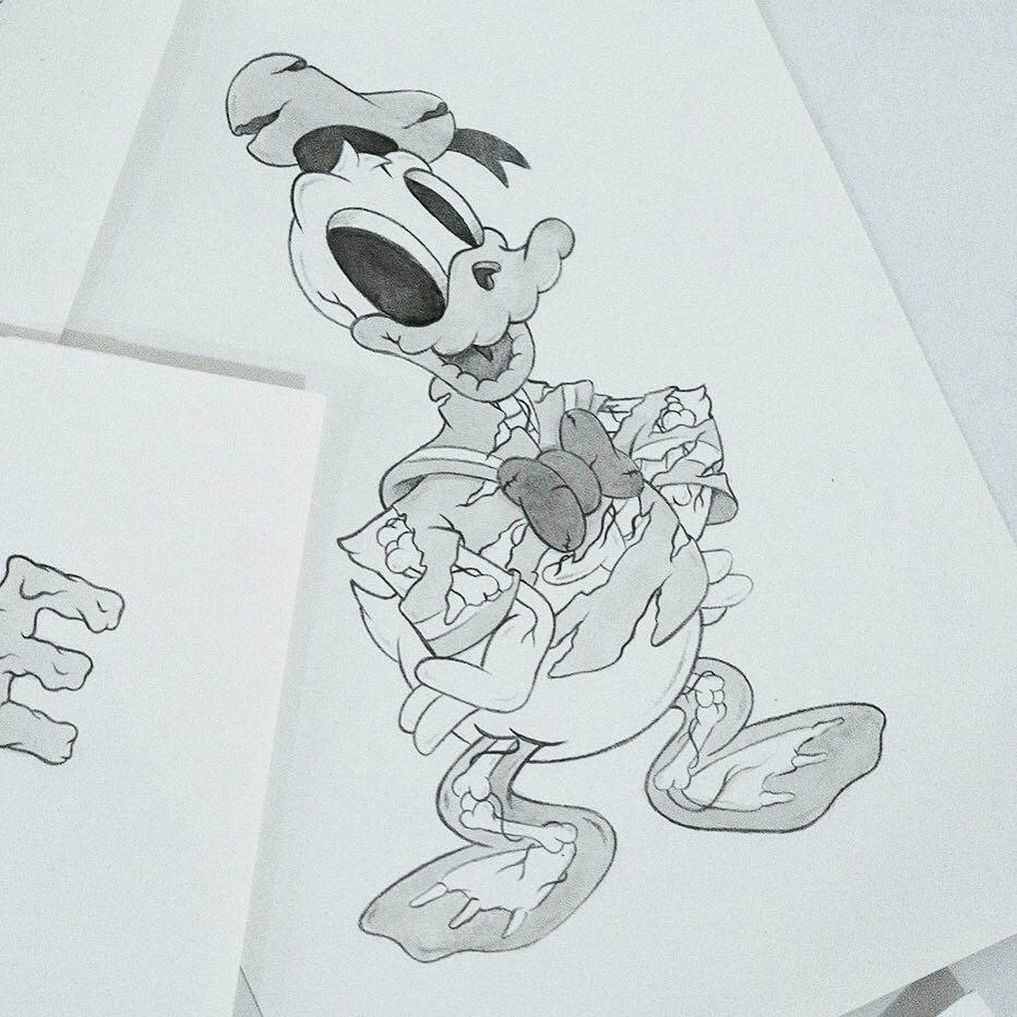 Cote Escriva Creepy Duck Illustration