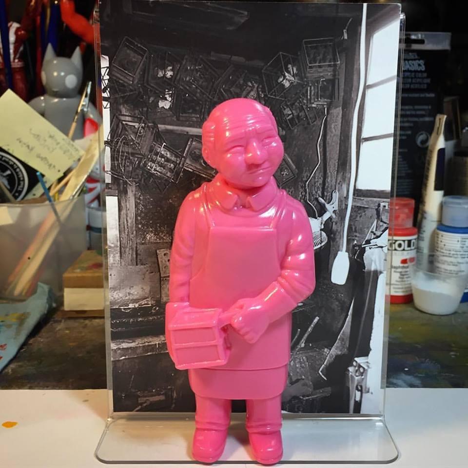 Art Toy Mark Nagata Sofubi Man Pink