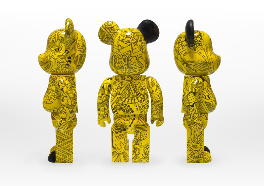 Ant Hayes Antisant Yellow Bastard Custom Bearbrick