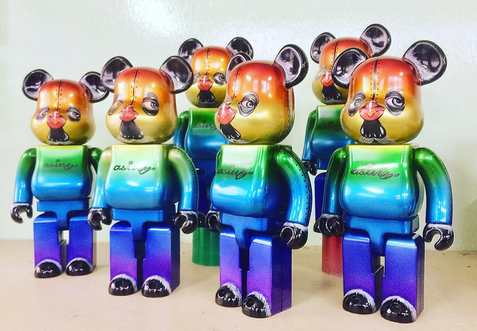 Khram Asin Psycho Chicken Custom Bearbrick