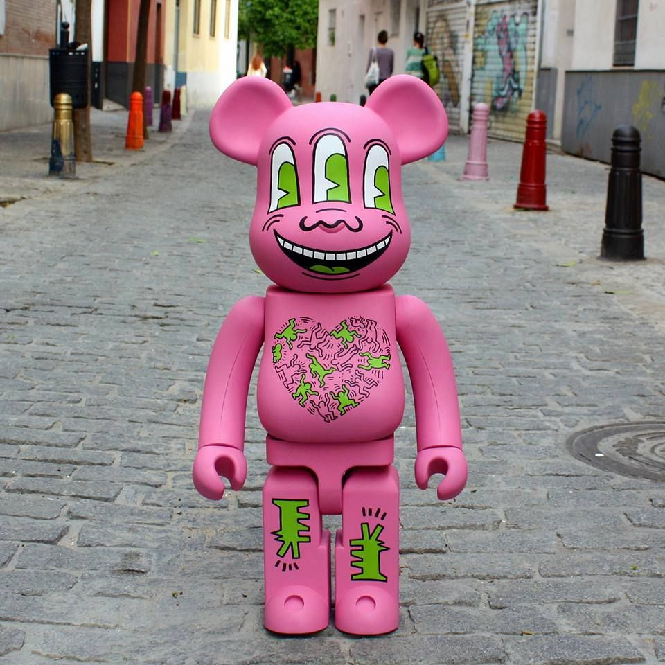 Bearbrick Custom WuzOne Keith Haring