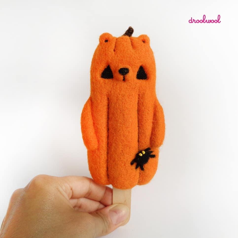 Droolwool - Popsicle Bear Pumpkin-min