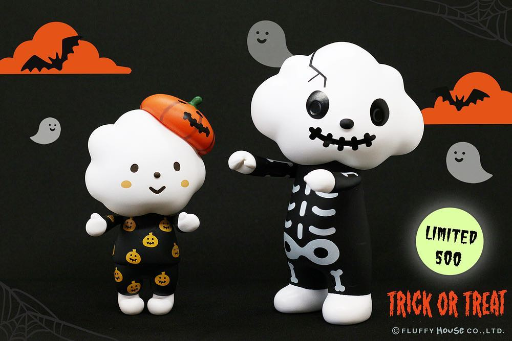 TRICK OR TREAT - MR. WHITE CLOUD & MISS RAINBOW de Fluffy House (1)-min
