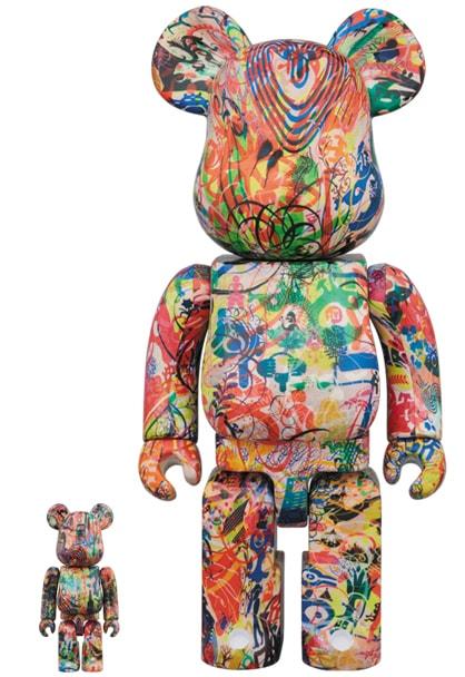 "Ryan McGinness ""Warhol Flower Icons"" Bearbrick-min"