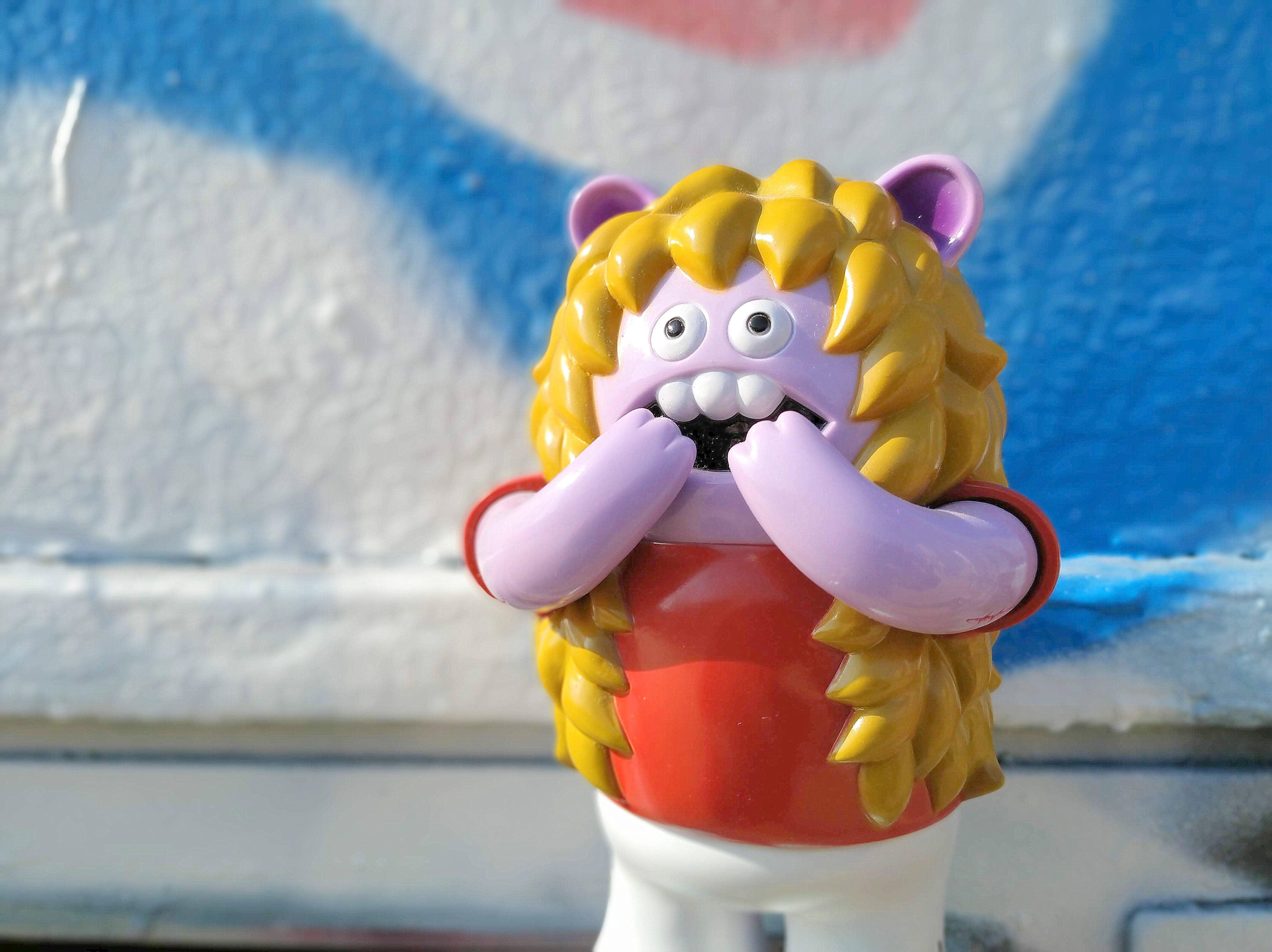 Burgerbuns de Le Merde x Super 7 Art Toy Sofubi