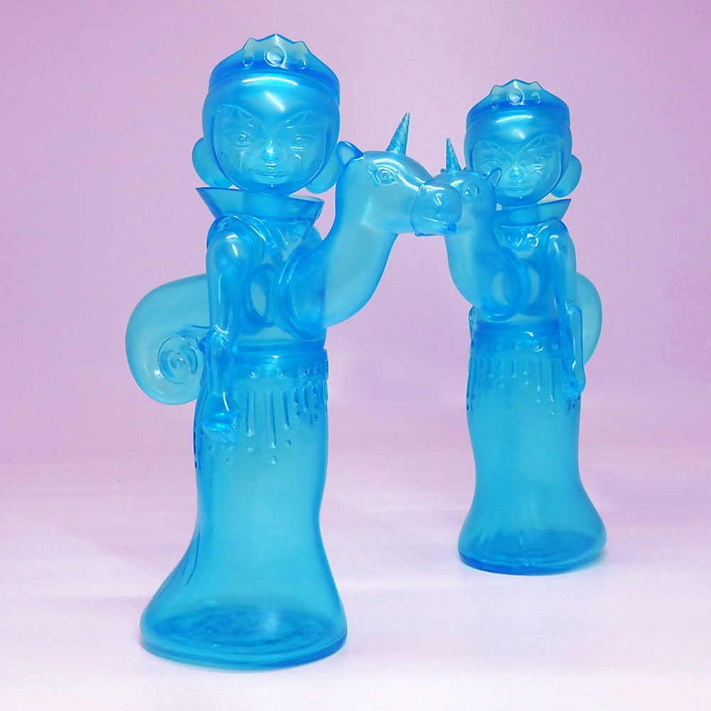 Clear Cyan Stella and Flux by Tara McPherson Circus Posterus Tomenosuke Art Toy