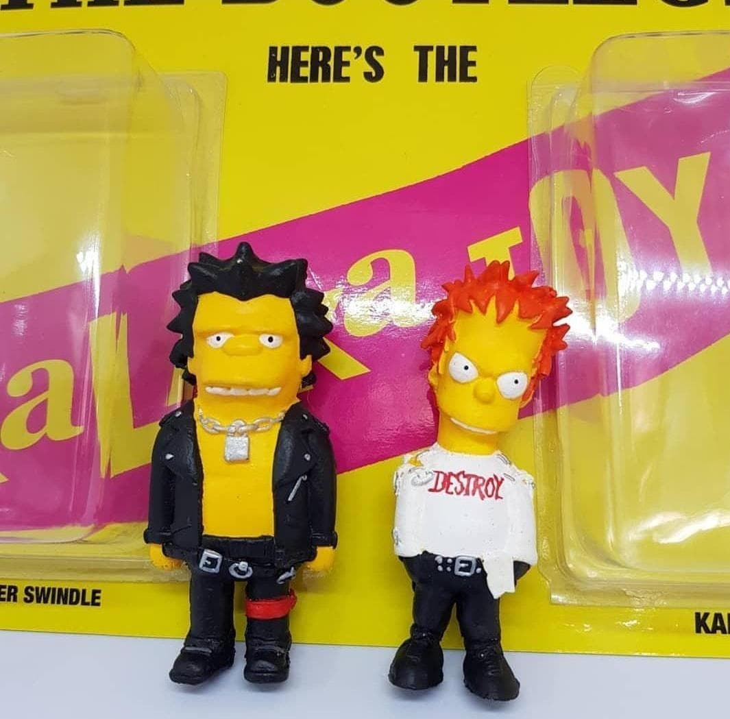 Nevermind the Bootlegs The Simpsons Sex Pistols Art Toys (1)