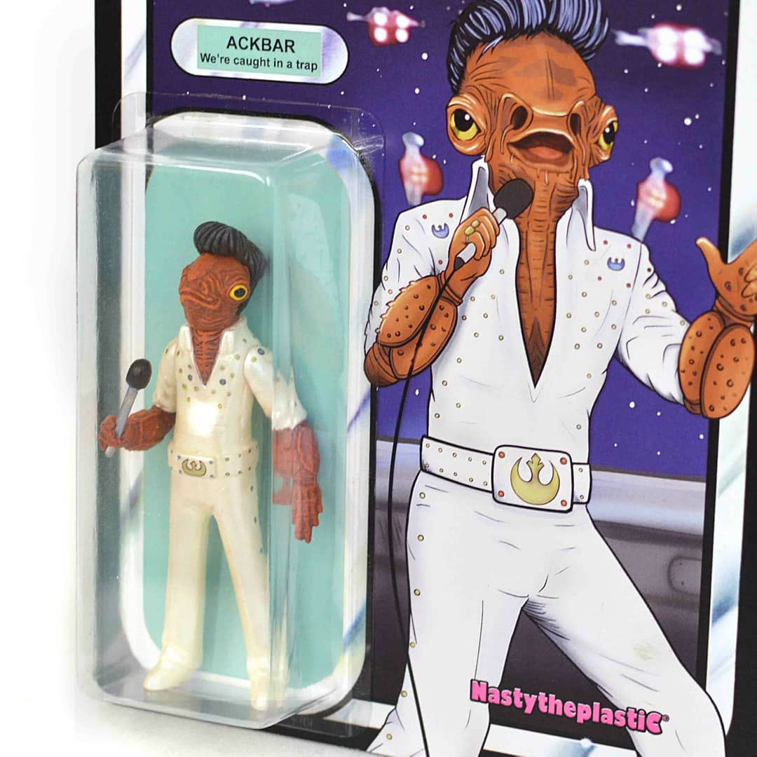 Admiral Ackbar Caught in a Trap Bootleg Resin Toy Art Toy