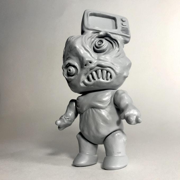 tv head Phobia Toys Kickstarter Art Toy Sofubi