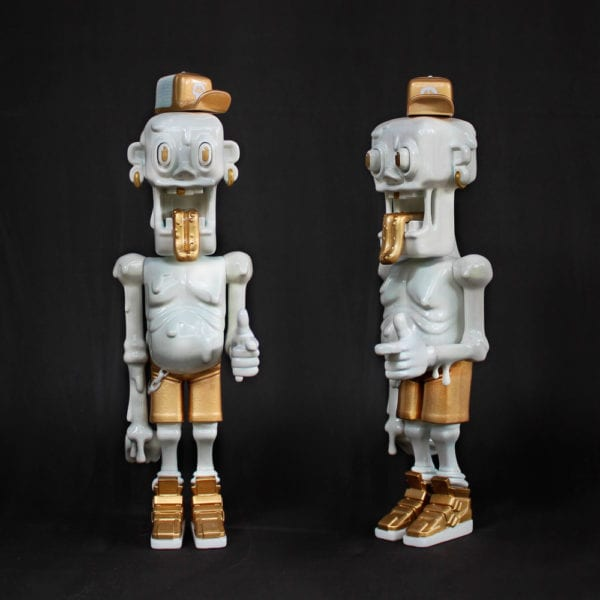 Jelly Buddy White Gold Rultron 6 Forest Art Toy Resin Toy