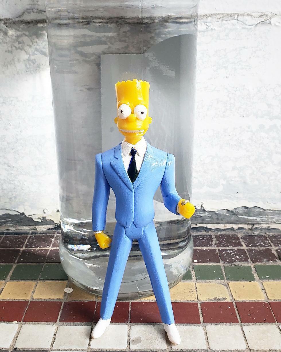Don Bartholomew J Jeff Cinco Resin Toy The Simpsons Bart