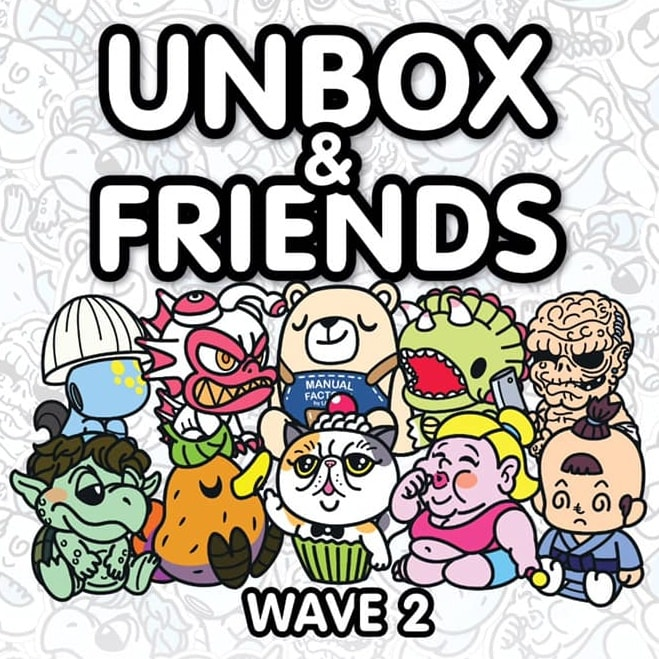 Unbox Industries Unbox Friends Series 2 Sofubi Art Toys Blind Box