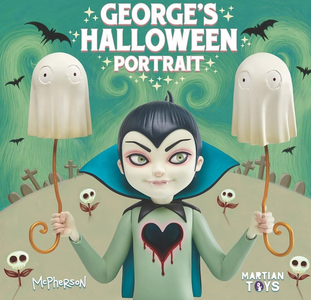 George's Halloween Portrait Sculpture Art Toy Tara Mcpherson Martian Toys