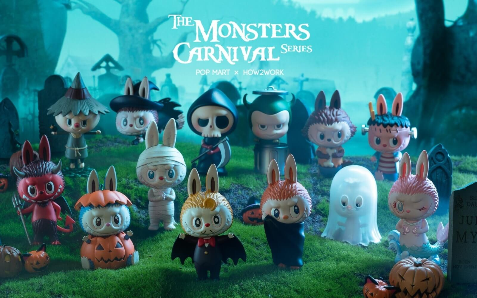 The Monsters Carnival Series Popmart How2Work Kasing Lung
