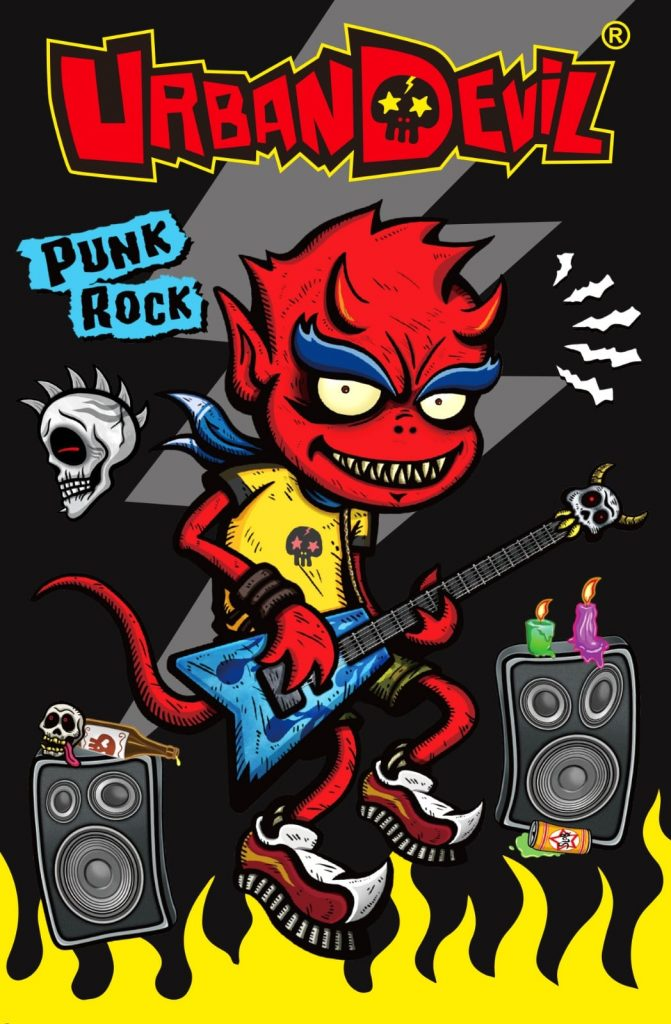 Urban Devil Pepperjerry Art Toy Rock