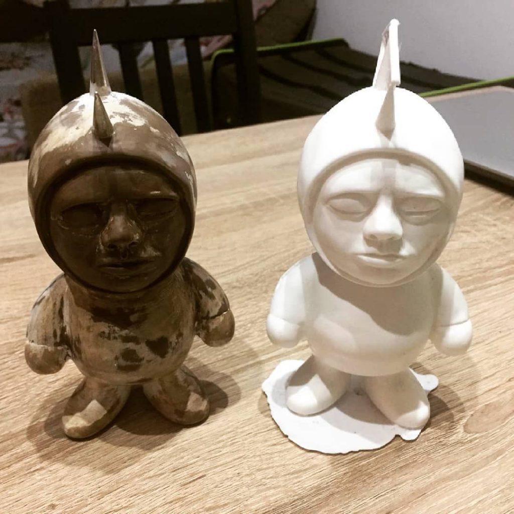 Arol Pei Toys Custom Hyperspinesthesia Art Toy Sculpture