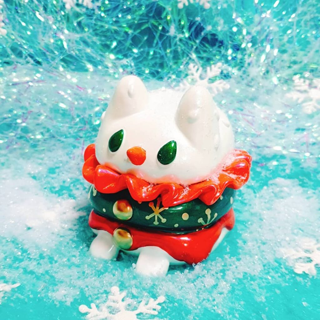 Rato Kim Burger Cat Resin Art Toy