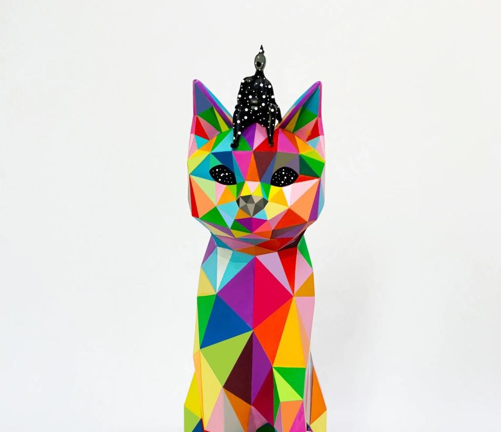 Okuda San Miguel A Playful World Spanish 5 APPortfolio Sculptures