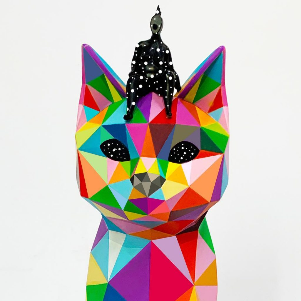 Okuda San Miguel A Playful World Spanish 5 APPortfolio Sculptures