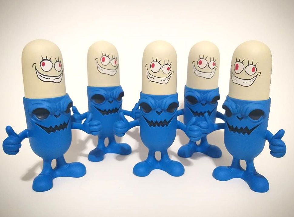 Prozac El Hooligan Blue Resin Toy Art Toy