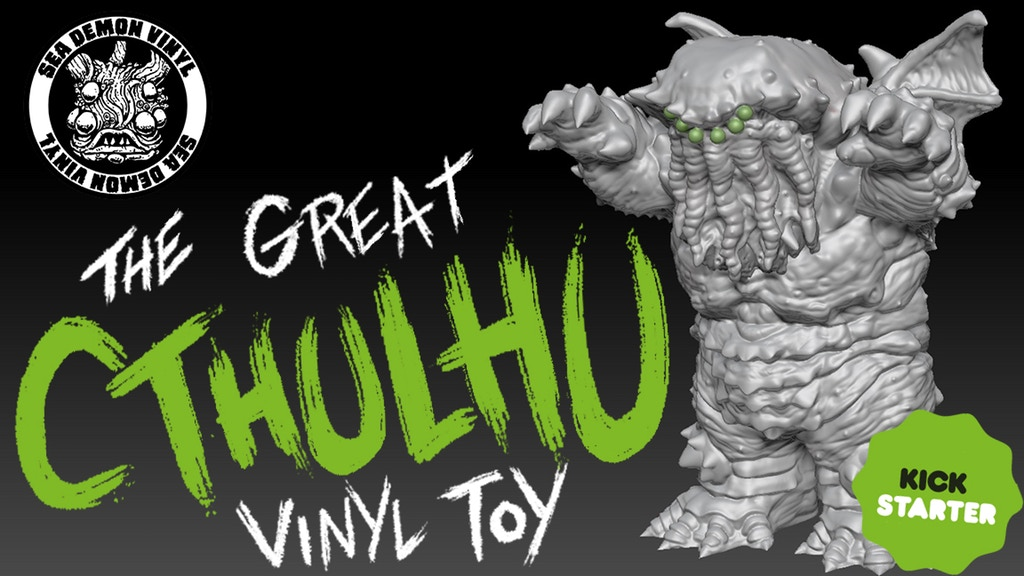 The Great Cthulhu Sea Demon Vinyl Toy