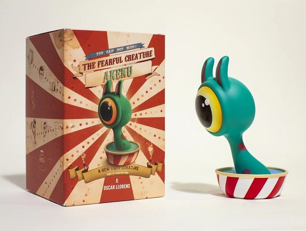Akeku Oscar Llorens Art Toy Vinyl Toy Monster Mind