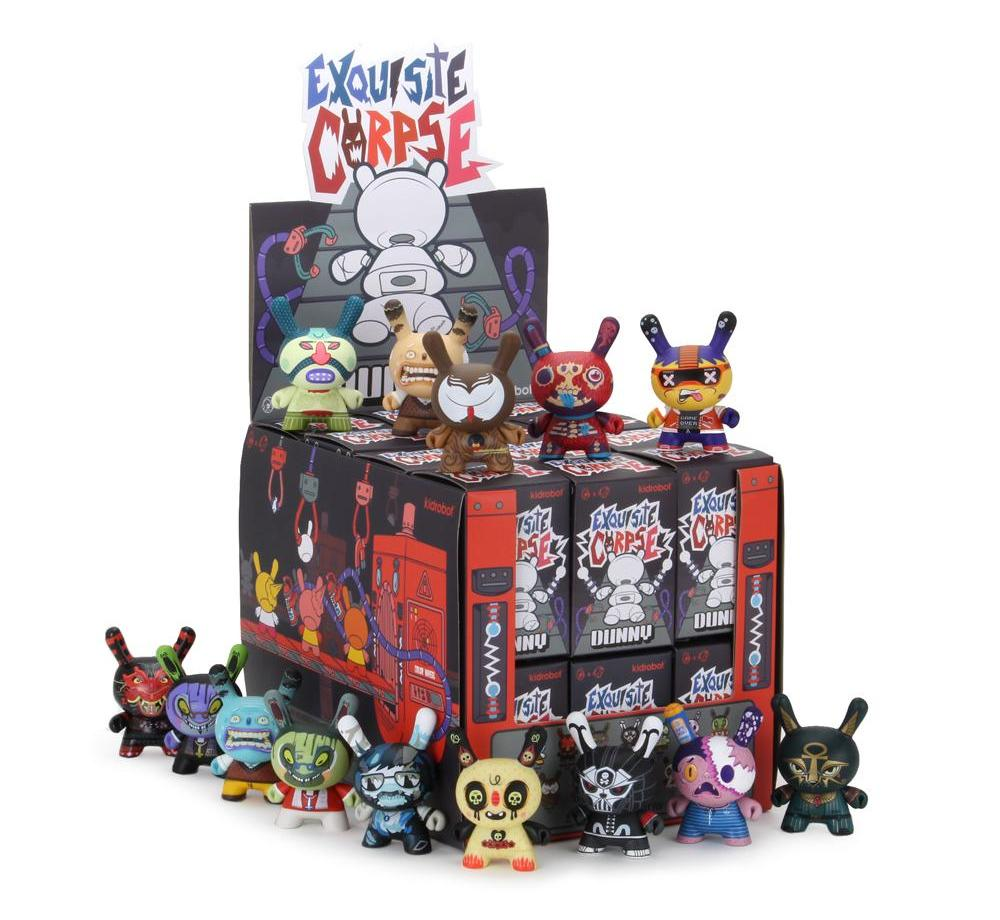 Exquisite corpse dunny series red mutua studios kidrobot