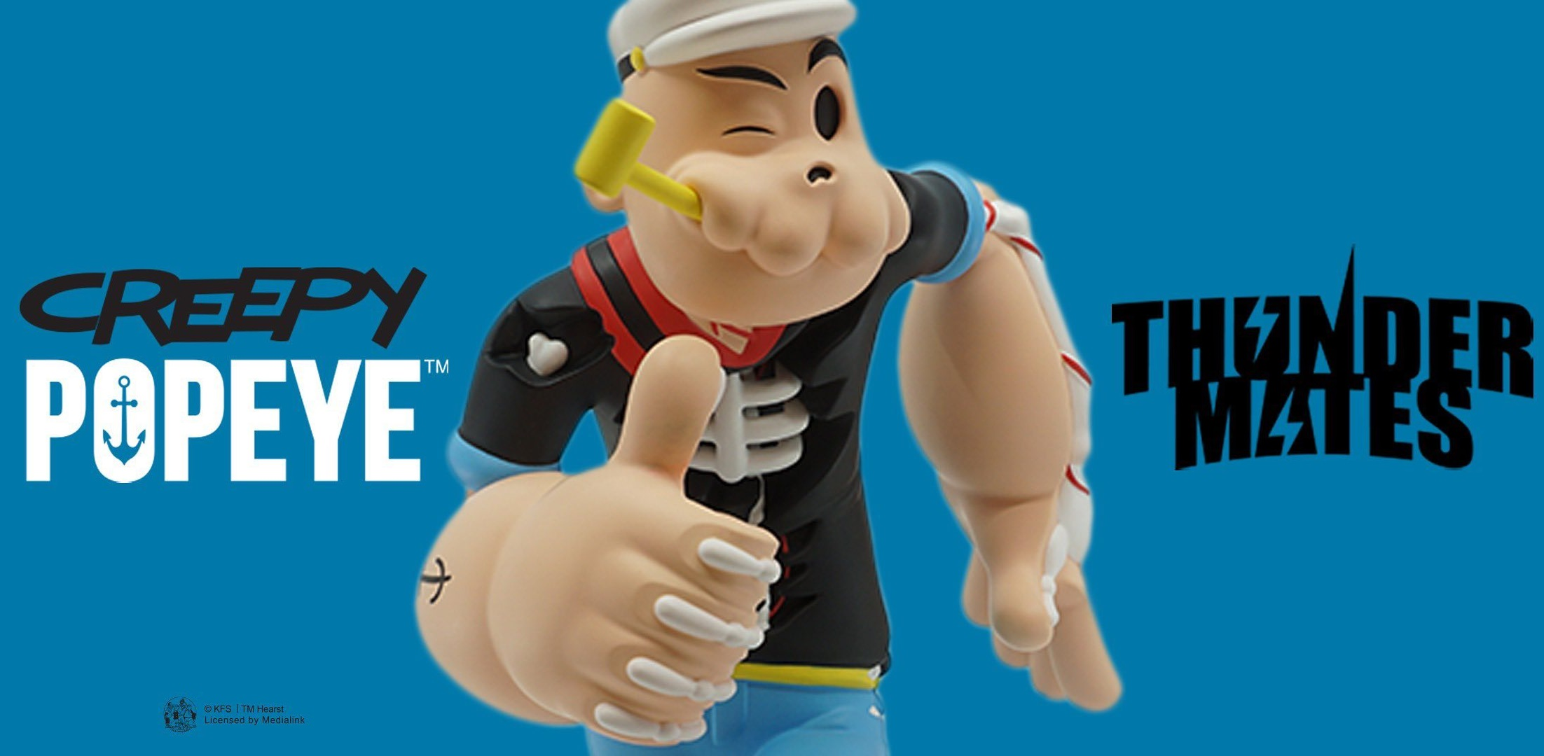 Creepy Popeye Cote Escriva Thunder Mates Art Toy