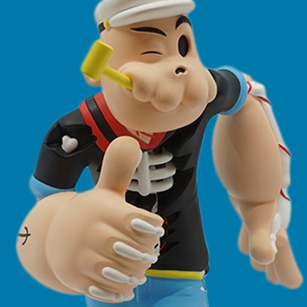 Creepy Popeye Cote Escriva Thunder Mates Art Toy