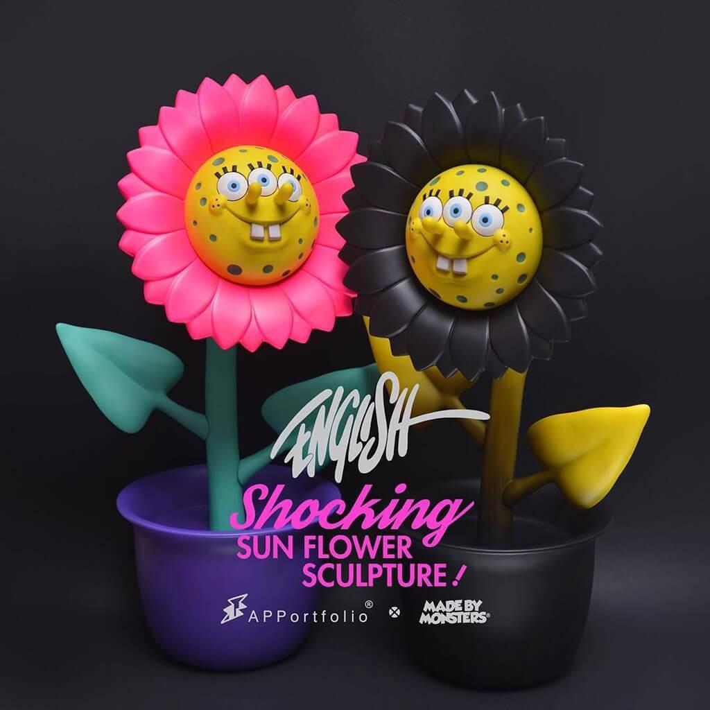 on English Spongebob Sun Flower