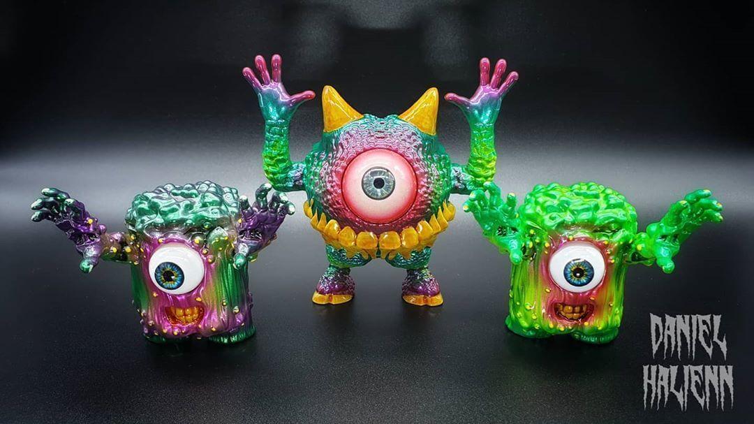 Daniel Halien Serie diabólica Babawa Mokko Art Toy Resina