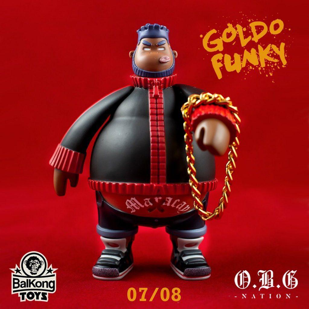 Goldo Funky Balkong Toys Akapellah Vinyl Toy